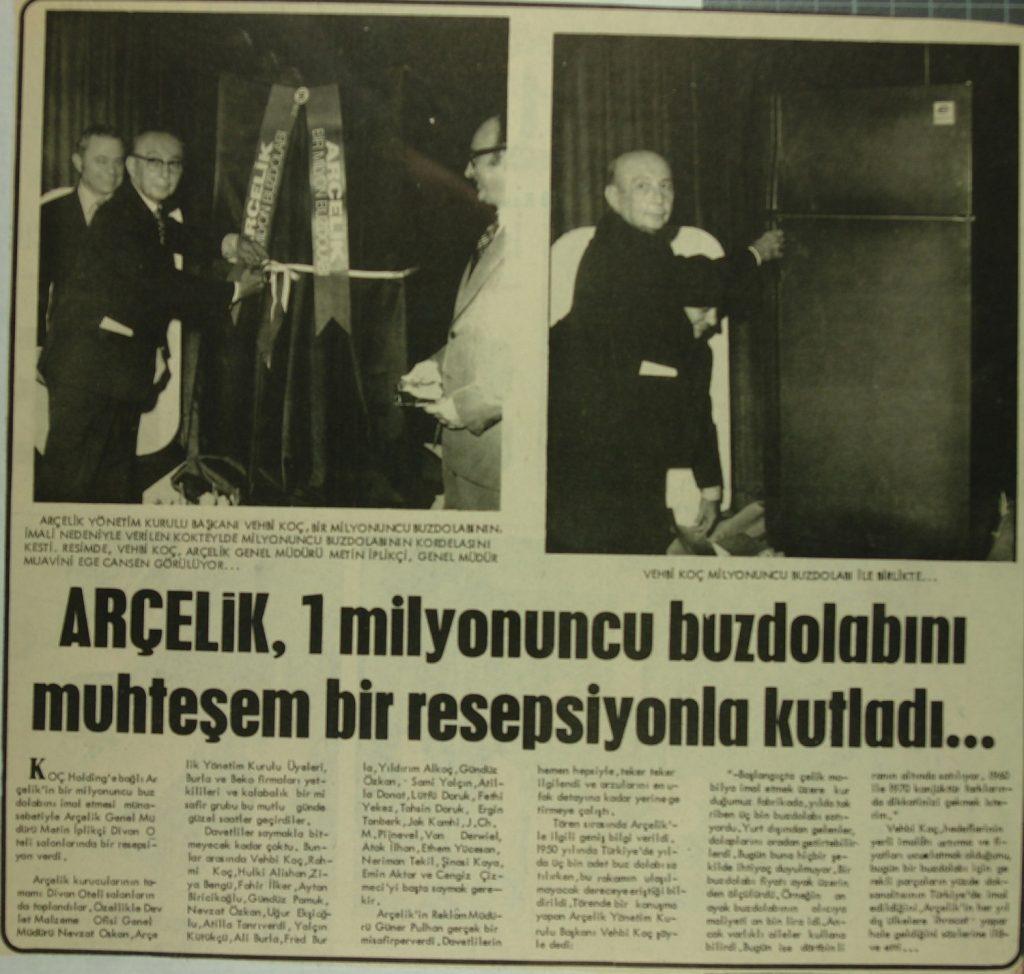 Arçelik Türkiye'nin en öneli beyaz eşya üreticilerinden biri.